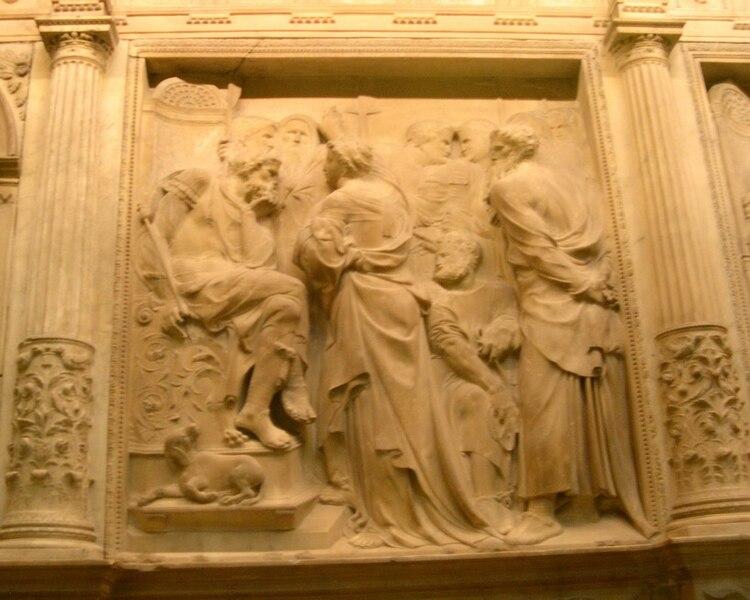 """""""El Juicio de Santa Eulalia"""", Trascoro de la catedral de Barcelona, de Bartolomé Ordóñez"""