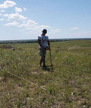 Electrical resistance survey - Electrical resistance survey of an archaeological site using a twin probe system