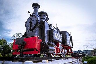 Reșița Steam Locomotive Museum - The Resicza locomotive on display