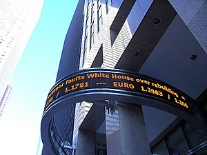 LED news ticker on the Reuters building at NYC.