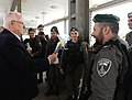 Reuven Rivlin distributed Mishloach Manot to the Military Police of Israel and the Border Police of Israel for Purim holiday (4864).jpg