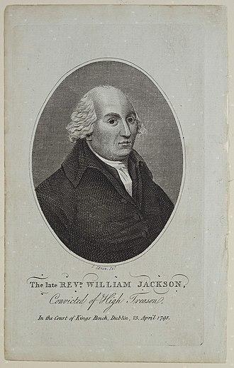 William Jackson (journalist) - Engraving of Jackson, circa 1800