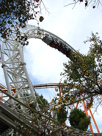 The New Revolution (roller coaster) - Revolution loop, January 2011