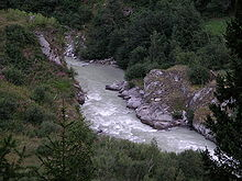 Rhôna ve walliských alpách
