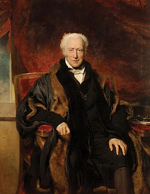 Chamberlain of London - Richard Clark (1739-1831) wearing his black furred robe as Chamberlain of the City of London