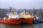 Rig support vessels at Trinity Quay, Aberdeen.jpg