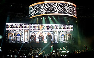 Diamonds World Tour - A view of the stage during Rihanna's performance in Singapore on September 22, 2013.