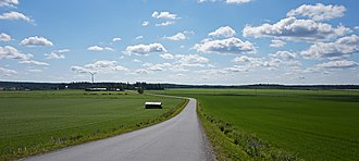 Southern Ostrobothnia - Image: Riihontie and fields
