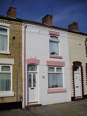 Ringo Starr - Starr's childhood residence at 10 Admiral Grove, Dingle, Liverpool, in 2010