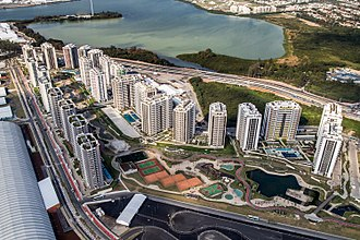 Rio 2016 Olympic Village - Aerial view of the complex