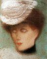 Rippl Woman Wearing White Hat c. 1901.jpg