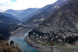 Ramban (Jammu and Kashmir) - Chenab flowing through Ramban