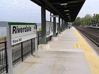 Riverdale station (Metro-North) - The Riverdale Metro-North station