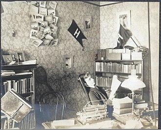Robert Yerkes - Robert Yerkes at his desk at Harvard University c. 1900