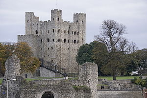 Hamo de Crevecoeur - Rochester Castle from the Medway