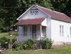 The old bank building at Rockbridge