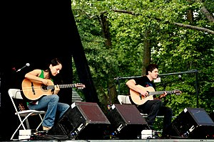 Rodrigo y Gabriela - Rodrigo y Gabriela performing in concert at Central Park SummerStage in Central Park, New York on July 1, 2007