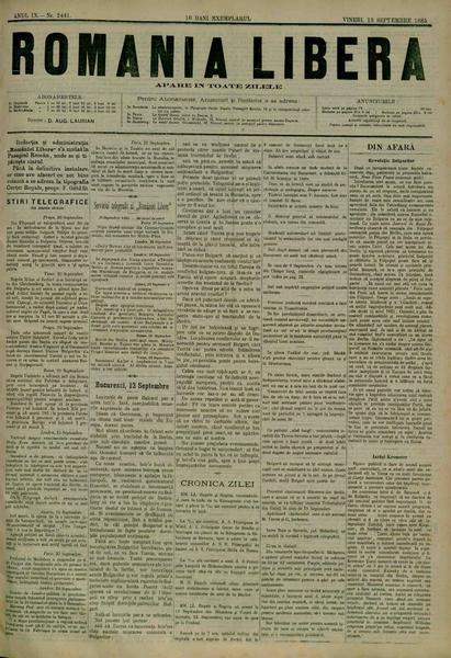 File:România liberă 1885-09-13, nr. 2441.pdf