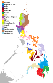 List of Catholic dioceses in the Philippines  Wikipedia