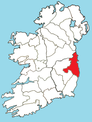 Roman Catholic Archdiocese of Dublin - Image: Roman Catholic Diocese of Dublin map