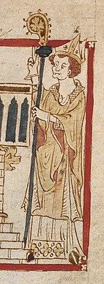 27 mai : Saint Augustin de Canterbury 150px-Roman_de_Brut_-_BL_Egerton3028_f55r_%28St._Augustine%29_%28cropped%29