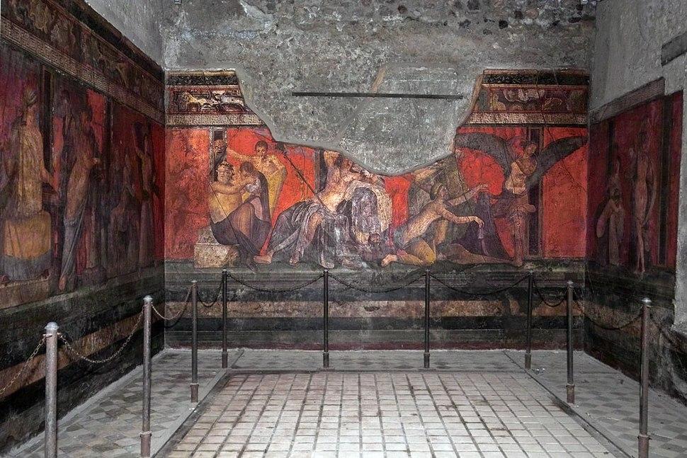 Roman fresco Villa dei Misteri Pompeii 006