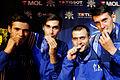 Romania podium 2013 Fencing WCH SMS-EQ t220703.jpg