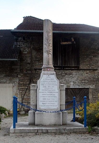 Monument aux morts de Ronchaux (Doubs).