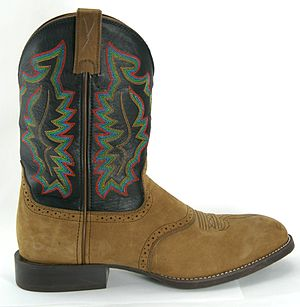 English: A roper boot style cowboy boot. Note ...