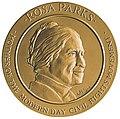 Rosa Parks Congressional Gold Medal 1999 obverse.jpg