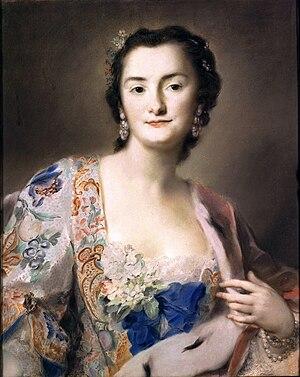 Anna Karolina Orzelska - Portrait by Rosalba Carriera, 1730