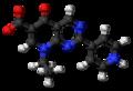 Rosoxacin zwitterion ball.png