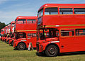 Routemaster buses RML2508 and RMC1456, 2006 Alton bus rally.jpg