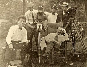 Roy William Neill - 1919 film crew (from left): Thomas Walsh (assistant director), Ned Van Buen (camera operator), Edward James (assistant director), Edward Wynard (camera operator), Neill (director, seated)