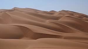 Rub' al Khali - Sand dunes in the Rub' al Khali.