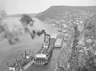 Ruby, Alaska - Riverboats on the Yukon River at Ruby during the town's heyday. ca. 1910