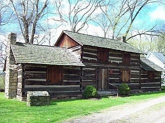 Craik-Patton House - Image: Ruffner Log House Apr 09
