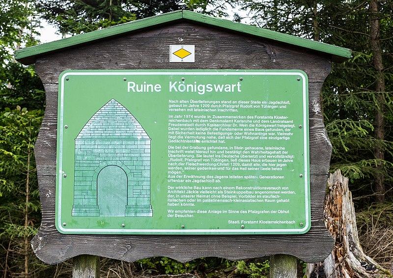 File:Ruine Königswart - Informationstafel.jpg