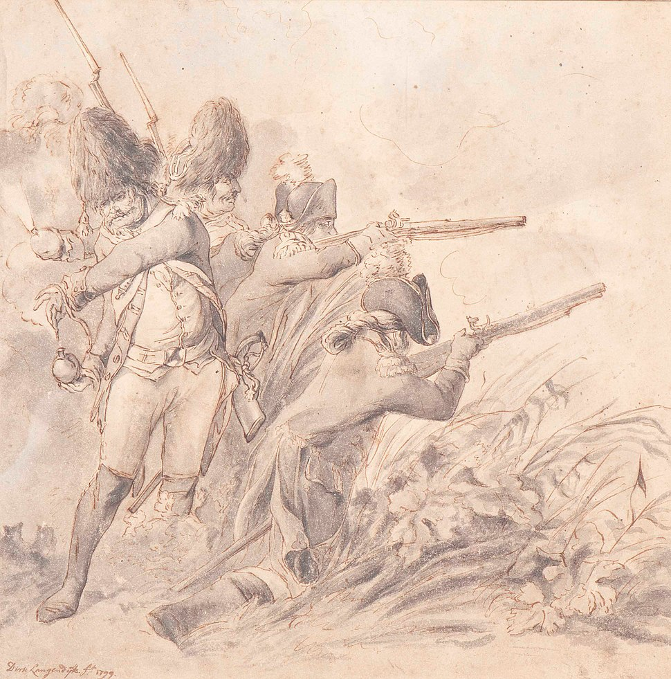 Russian (or English) forces near Bergen, by Dirk Langendijk (1748 - 1805)