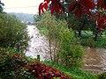 Rzeka Bóbr w Janowicach Wielkich - 2010 r..JPG