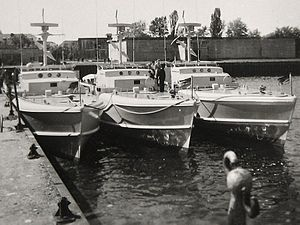 Operation Jungle - Three German Silbermöwe-class motorboats, used during the last phase of Operation Jungle