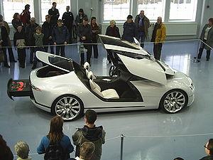 Vehicle canopy - The 3 part canopy on a Saab Aero-X.
