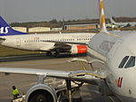 SAS (LN-RPW), Berlin Tegel Airport, November 2015.JPG