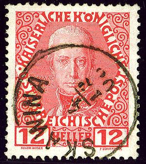 Skawina - Austrian KK stamp cancelled in 1908 at Skawina