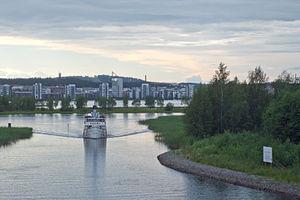 SS Suomi approaching Äijälänsalmi