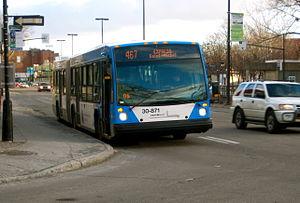 467 Express Saint-Michel - Image: STM 467Express Saint Michel