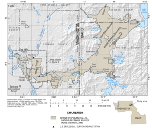 Spokane ValleyRathdrum Prairie Aquifer Wikipedia - Aquifer map of us