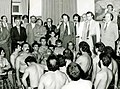 Sadegh Ghotbzadeh visits a zoorkhaneh of Tehran, 1979.jpg
