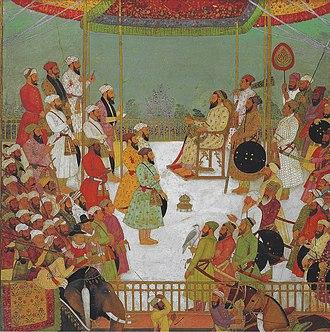 Grand vizier - Image: Sadullah Khan giving audience, c 1655