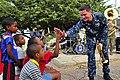 Sailor gives high-five in Cape Verde (8367036537).jpg